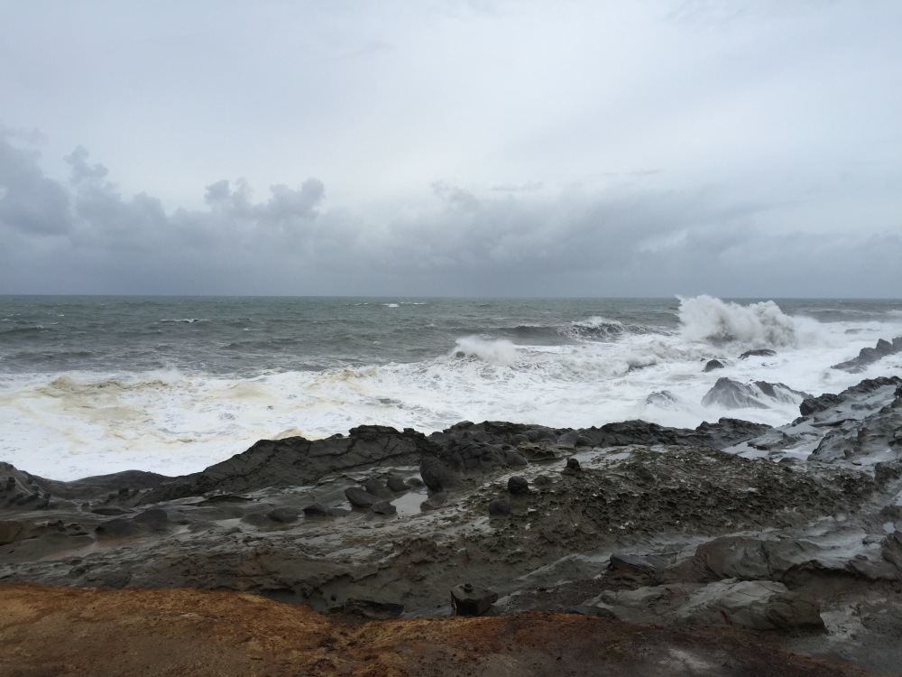 Waves crashing at Shore Acres